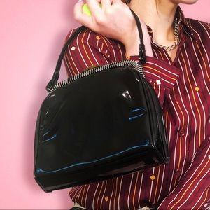Handbags - Vintage patent JR USA black glossy purse